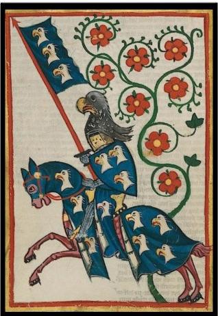 codice miniato cavaliere tedesco