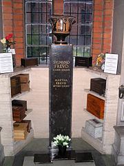 L'urna cineraria di Freud e di sua moglie Martha