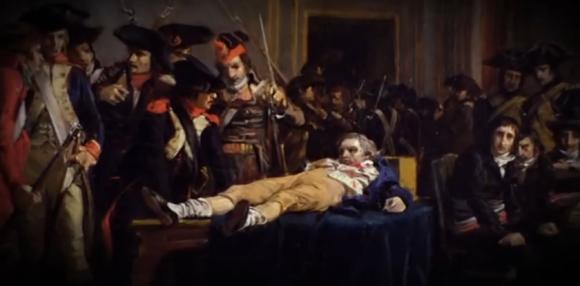 28 luglio 1794 , Robespierre attende l'esecuzione con ventidue compagni
