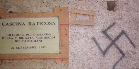 vandalismo alla cascina Raticosa