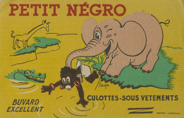 France, 1900. The representation of Black people through racial stereotypes.