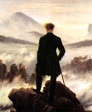 Caspar David Friedrich, Viandante sul mare di nebbia 1818