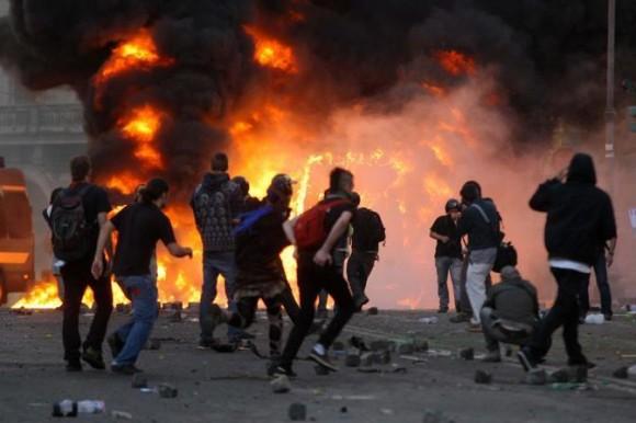 scontri a Roma 15 ottobre 2011