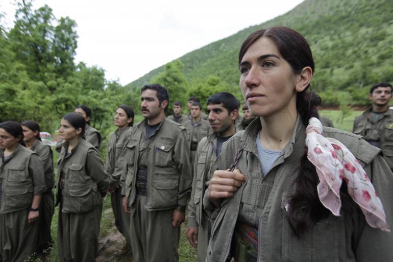 Partigiani curdi del PKK a Kobane. 28 ottobre 2014
