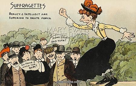 Cartoon contro le suffragette