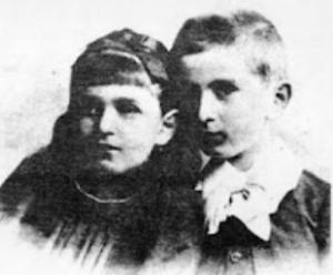 Dora (Ida Brown) e il fratello Otto nel 1890