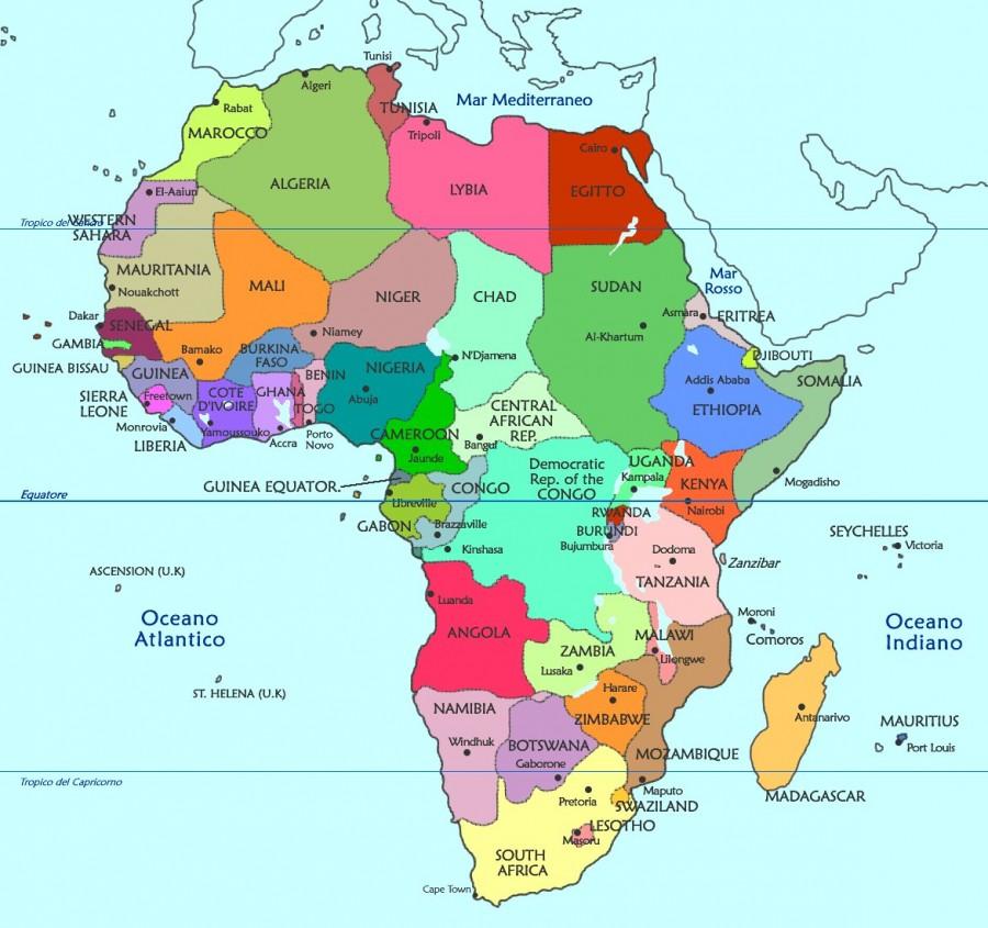 Image result for africa cartina politica